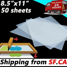 """8.5""""x 11"""",50 sheets,Waterproof Inkjet Transparency Positive Film 5 Mil"""