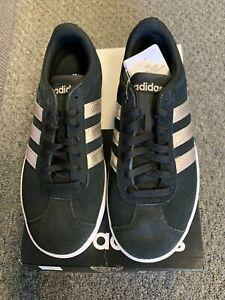 Adidas VL Court 2.0 Skateboarding Shoe - NEW IN BOX - Women's Black