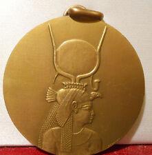 1975 FRENCH ART MEDAL UNESCO SAFEGUARD PHILAE EGYPT ISIS GODDESS