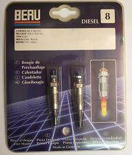 2 Bougies de préchauffage BERU  0 100 221 144 - 661MJ - GV661 - PSA Rover 1.4 D
