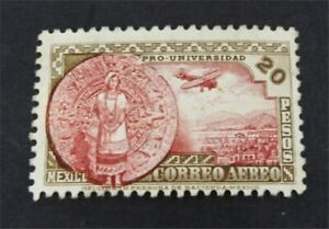 nystamps Mexico Stamp # C61 Mint OG NH $3250 Rare   A30y640