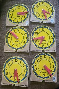 Judy Instructo Mini Clock Set of 6 for Homeschool Learning Educational Materials