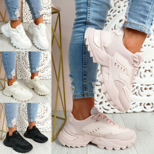 WOMENS LADIES CHUNKY SNEAKERS SPORT RUNNING TRAINERS PARTY WOMEN SHOES SIZE UK
