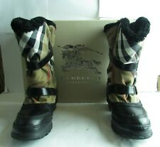 Burberry Housecheck Shearling Lined Winter Mid weather Boots