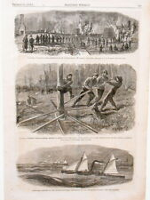 Harper's Weekly Page Civil War Weldon Railroad Jarret's Station 5th Corps 1864