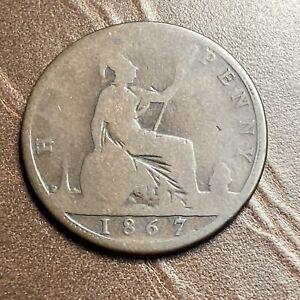1867 UK Great Britain British Half 1/2 Penny Victoria