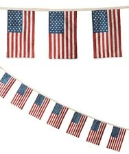 "Bethany Lowe ""Americana Flag Garland"" (72"" length with seven 9.25"" x 5.5"" flags)"