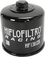 HifloFiltro Replacement Motorcycle Racing Oil Filter (Black) HF138RC