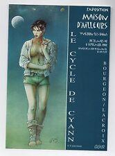 Flyer Exposition BOURGEON. Maison d'Ailleurs Suisse 1998.  ETAT NEUF; réf. 75/26