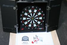 SNAP-ON TOOLS Electronic Dart Board in Wooden Case with Darts