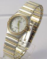 Omega Constellation Damen Uhr  Stahl & Gold & Diamant