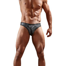Svenjoyment Underwear Faux Leather G-String With Powernet Inserts - Underwear Ma