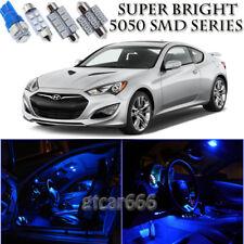 For Hyundai Genesis Coupe 2009-2015 Blue LED Interior Kit + License Plate Light
