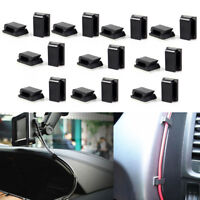 20Pcs Car Wire Tie Cable Holder Self-adhesive Rectangle Cord Mount Clip Clamp