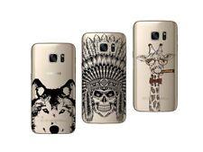 Samsung Galaxy S7 edge - Paquete De 3 Carcasas Gel Suave Con Estampado Fantasia