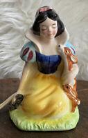 "Vintage Enesco Snow White Walt Disney World 5.25"" Painted Ceramic Working Lamp"