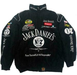 Autumn Winter Jack Daniels Motorcycle Racing Jacket Embroidered cotton padded