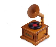 WOODEN PHONOGRAPH MUSIC BOX :Pirates of Caribbean - He's A Pirate