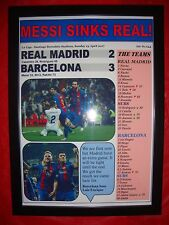 Real Madrid 2 Barcelona 3 - 2017 La Liga - framed print