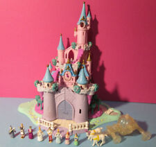 Polly Pocket Mini Disney ♥ Cinderella Märchen Schloss ♥ 100% complete ♥ LICHT ♥
