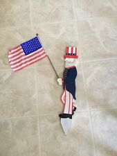 Wooden Uncle Sam Lawn Stake