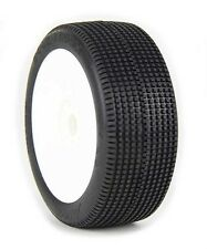 AKA Double Down 1/8 Buggy Pre-Mounted Tires (White) (Super Soft - Long Wear) (2)