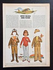 Betsy McCall Mag. Paper Doll, Betsy McCall Goes Flying, Nov. 1978
