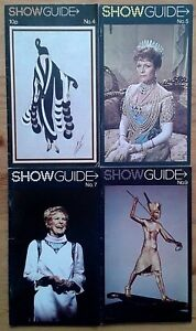 Individual Show Guide theatre magazines 1971-1972, Theatreprint Showguide