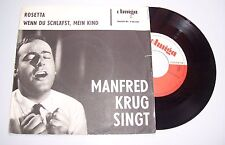 Amiga 450419 Single Manfred Krug singt / Rosetta & Wenn du schläfst mein Kind !