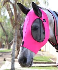 Professionals Choice Comfort Fit Lycra Fly Mask Charcoal Pink COB CFM