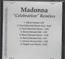 MADONNA ULTRA RARE US DANCE ACETATE REMIX PROMO CD Celebration Remixes 8 TRX