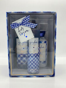 NEW Bath and Body Works GINGHAM SET Full Size Body Mist + Lotion + Shower Gel