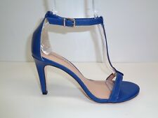 Antonio Melani Size 10 M AUDREY Blue Leather T-Strap Sandals New Womens Shoes
