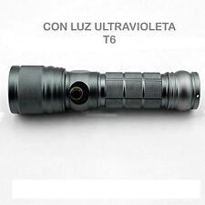 LINTERNA DE LUZ ULTRAVIOLETA LED UV BATERÍA Y CARGADOR INCLUIDOS