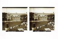 Esposizione Universale Parigi 1937 Pavillon Portugal Foto Placca Stereo Vintage