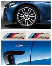 2 X M-Sport Chrome Wing Badge Self-adhesive Emblem for BMW Car Small