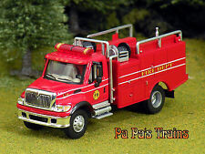 Diecast Brush Land Management Fire Truck HO 1:87 by Boley