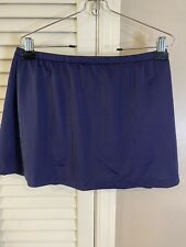 Maxine Of Hollywood Size 14 Swimsuit Skirt Bottom Womens Navy Blue Solid