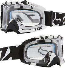 Fox defensa aérea Motocross Mx Goggles Black Zebra Transparente rasga Mtb Bicicleta Mtb