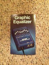 Vintage Mxr Guitar Effects Pedal Lit Spec Sheets ~Graphic EQ 10 Band ~ 70's-80's