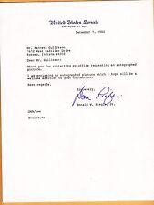 Donald W. Riegle, Jr-signed letter-32