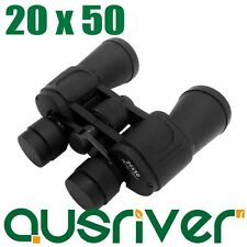 Brand New Power View Fully Coated 20x50 Camping Outdoor Black Binoculars
