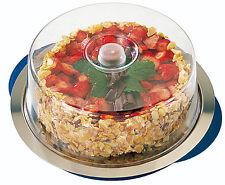 Thermo Tablett 5 teilig Kuchenplatte -Edelstahlplatte mit Haube und Kühlakkus