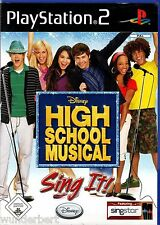 *- PS2 Spiel - HIGH School MUSICAL - SING it !- + LIEDTEXTE  (2007)