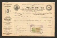 """PARIS (XV°) DEMOLITIONS & TRAVAUX PUBLICS """"D. DUMONTEIL Fils"""" en 1922"""