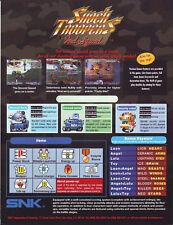 Snk Shock Troopers 2Nd Squad Original Nos Video Arcade Game Promo Sales Flyer