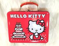 HELLO KITTY Adorable Pink Tin Lunchbox ~ Collectible Cute