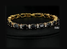 Exquisite Blue CZ And 18k Yellow Gold Plated Bracelet