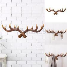 50cm Vintage Deer Antler Hook Rack Wall Hat Coat Hanging Hooks Hanger Home Decor