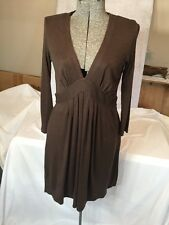 Theory Brown Jersey Knit Dress Size Small Lightweight & Fun Resort